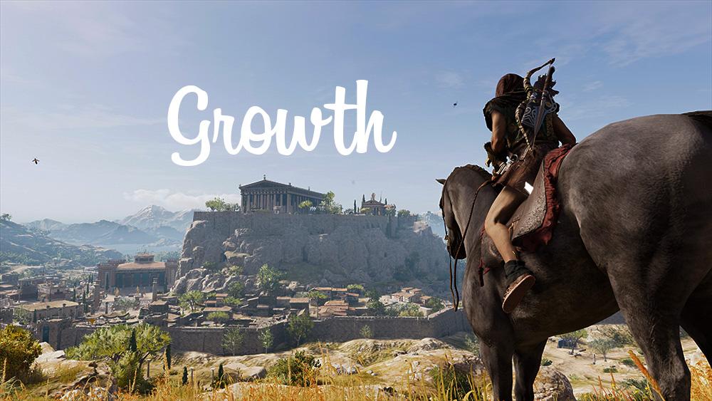 アクションRPGの要素「成長」を書くためのアイキャッチ画像
