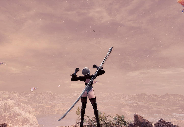 ゲームの中でも風景の美しさは天候に左右されるという説明用の画像