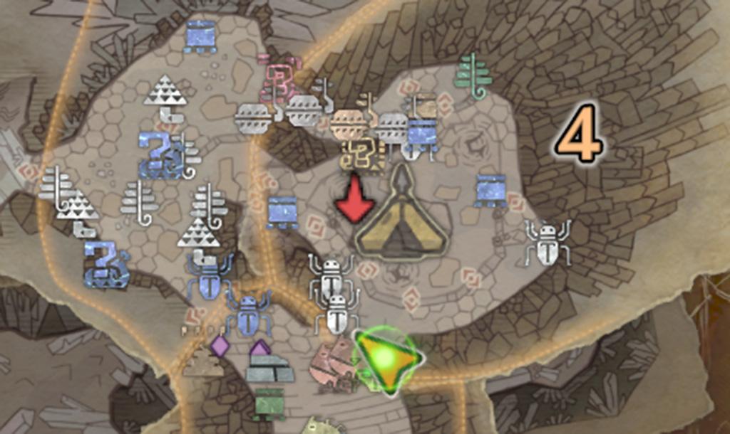 モンスターハンターワールドの「龍結晶の地」の地図