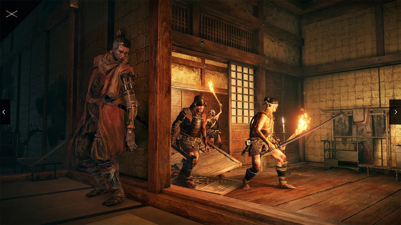 テレビゲーム「SEKIRO」のステルス性を説明する画像