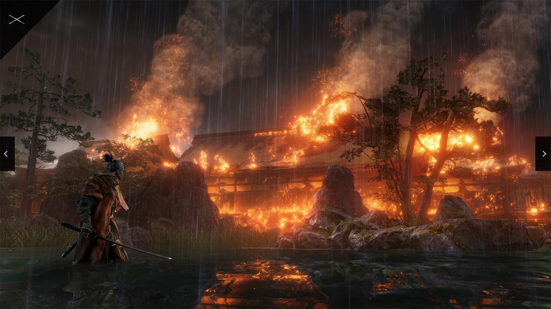 テレビゲーム「SEKIRO」の舞台は戦国時代の日本であると説明する画像。
