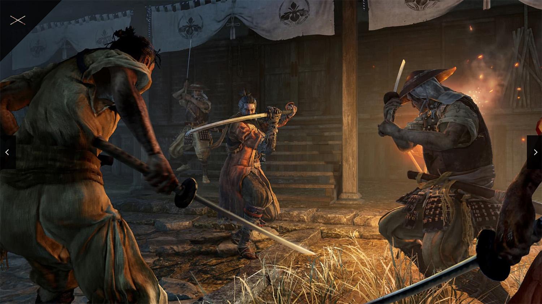 テレビゲーム「SEKIRO」の剣戟を説明する画像