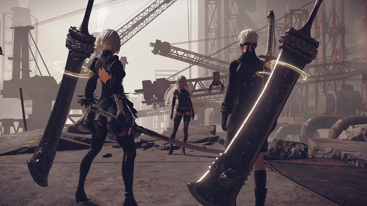 おすすめのアクションRPG「ニーア オートマタ」を紹介するためのアイキャッチ画像