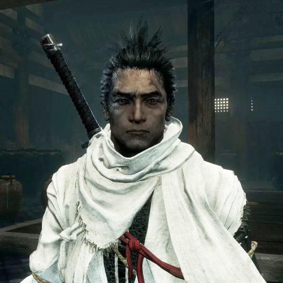 【SEKIRO】隻狼の服を白黒にするMODを紹介するアイキャッチ画像