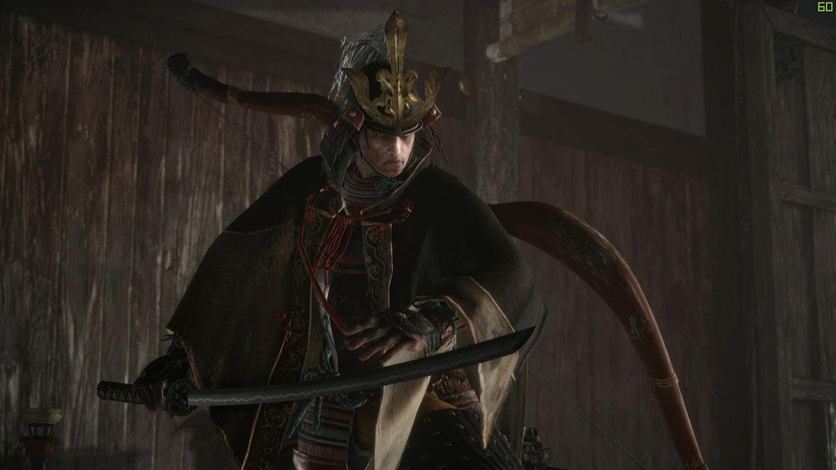 葦名城で葦名弦一郎と対峙する画像