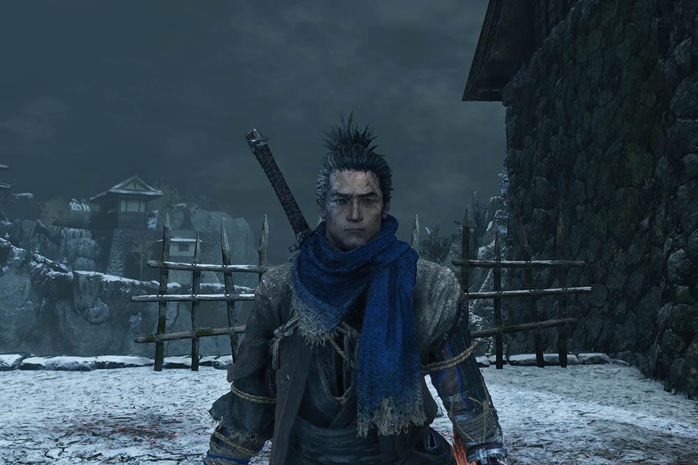 sekiro 葦名の灰のスカーフ青色のイメージ画像