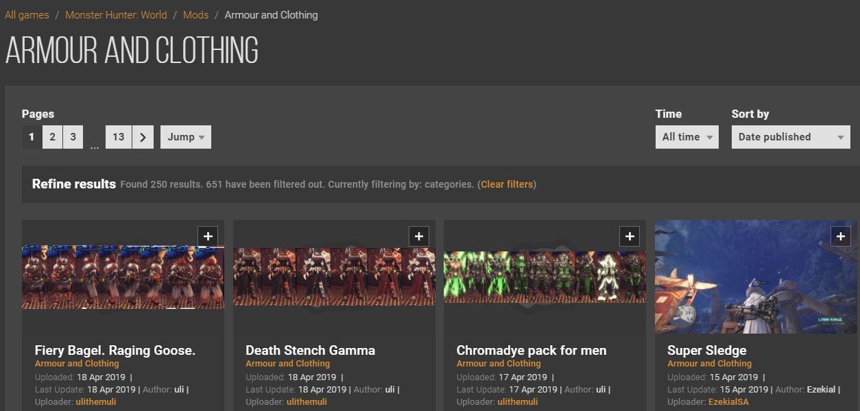 Nexus Mods内で「Mod Category」で検索する方法を示す画像-3