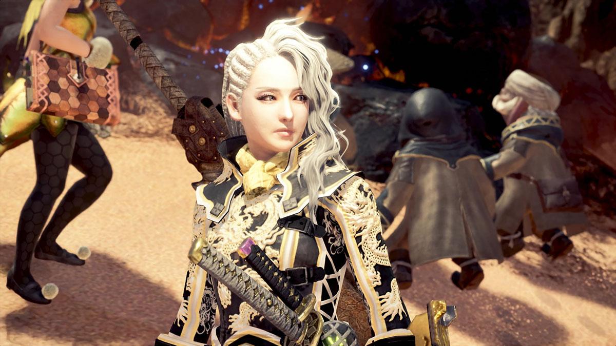 モンスターハンターワールドのMOD「Gorgeous Dragon Knight Battle Suit」を紹介するイメージ画像-1