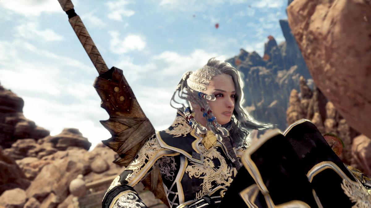 モンスターハンターワールドのMOD「Gorgeous Dragon Knight Battle Suit」を紹介するイメージ画像-3