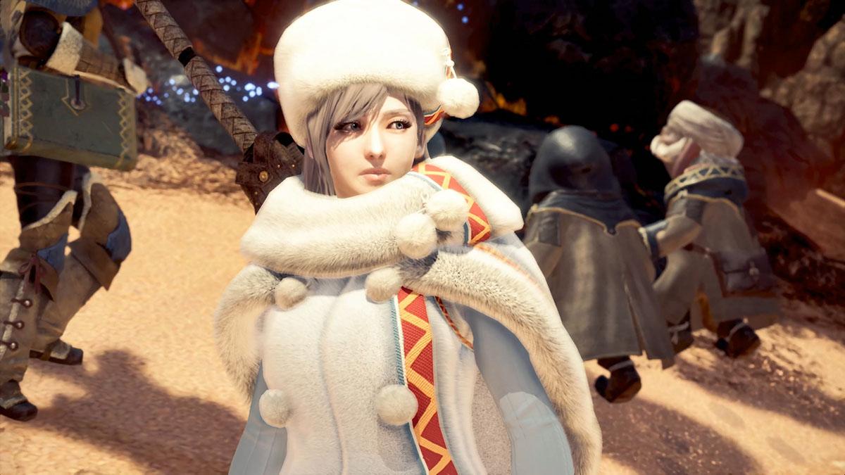 モンスターハンターワールドのMOD「Player's Custom Winter Spirit Coat」を紹介するイメージ画像-1
