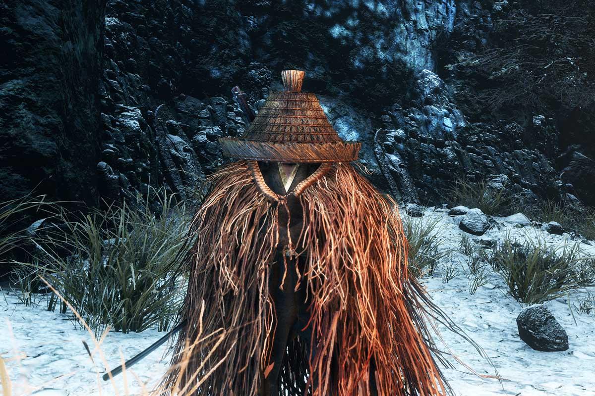 仙峯寺 笠の僧のイメージ画像