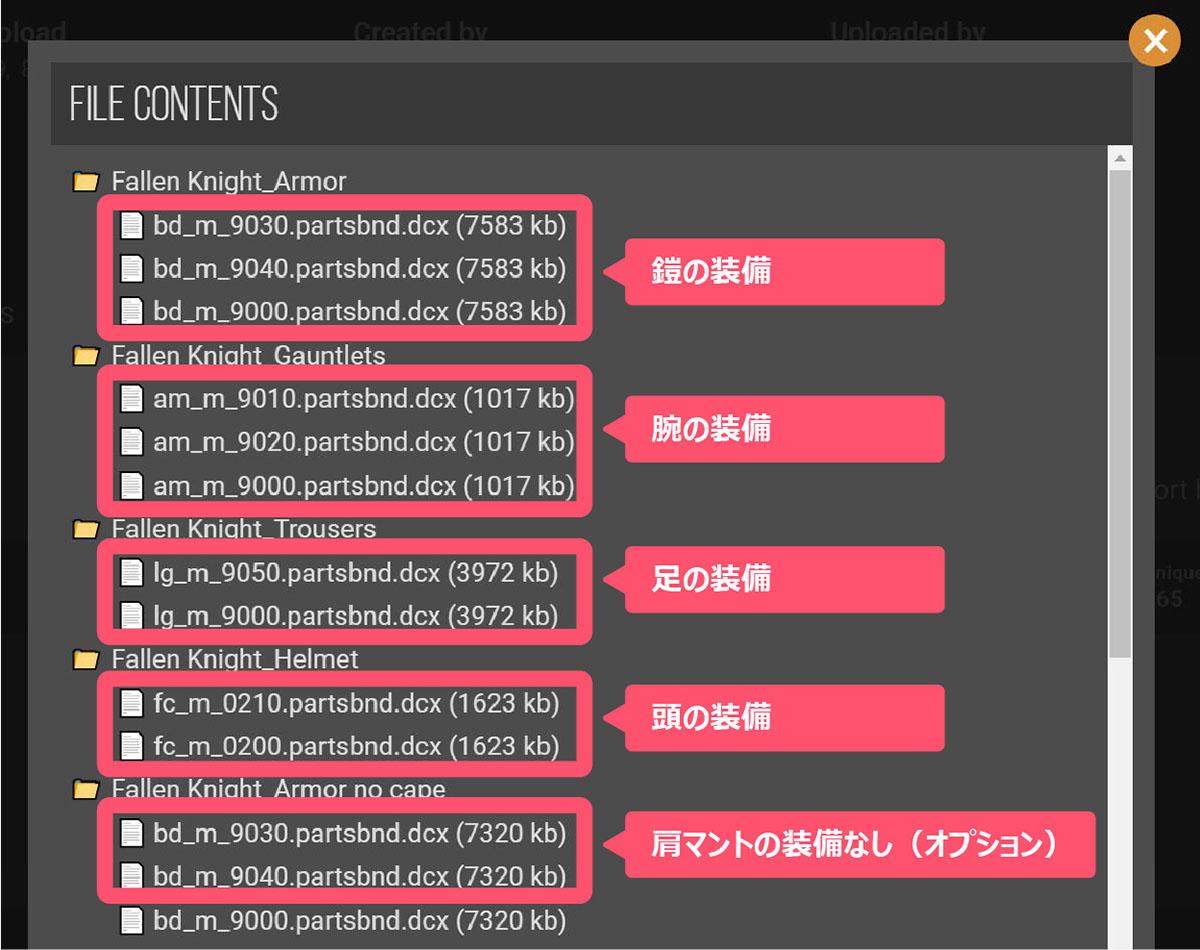 sekiroのMOD「DS3 Customization Pack 1」をインストールするイメージ画像-3