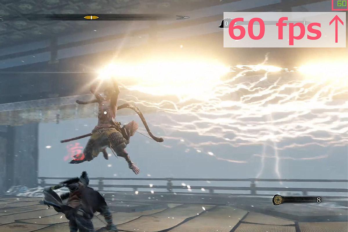 PC版SEKIROのフレームレートを説明する画像