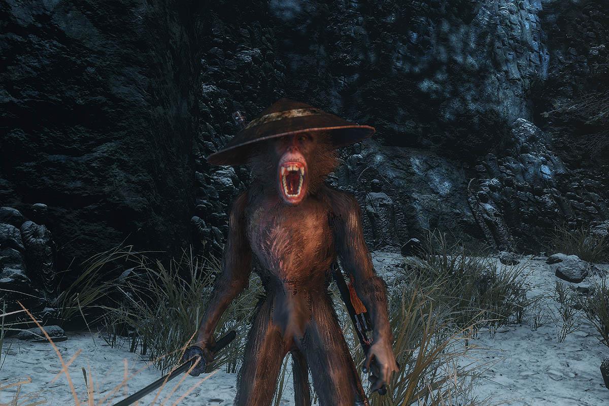 茶色い猿のイメージ画像