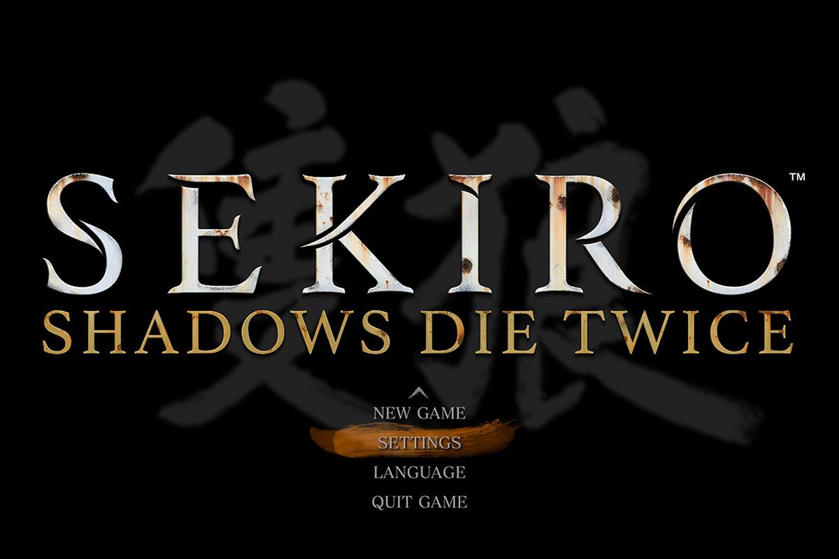 SEKIRO PC版のスタート画面。