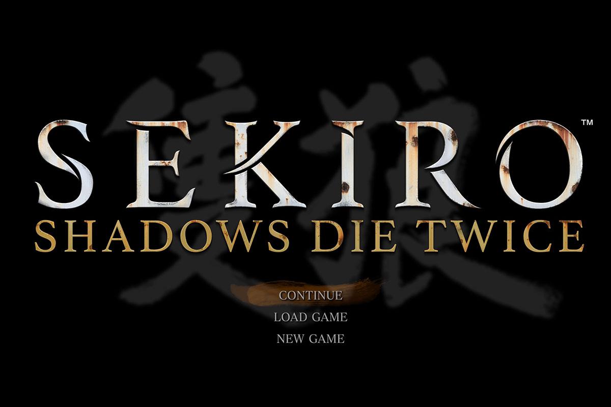 SEKIRO PS4版のスタート画面
