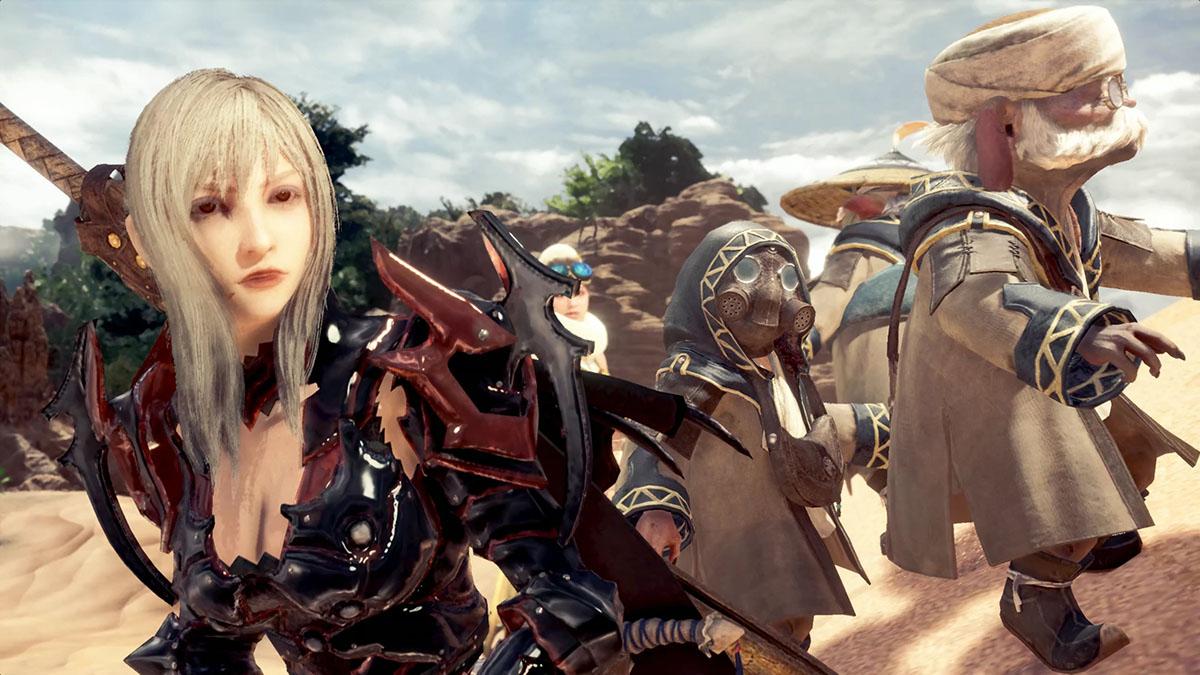 モンスターハンターワールドのMOD「FFXV Aranea character AND weapon mod for female」を紹介するイメージ画像-3