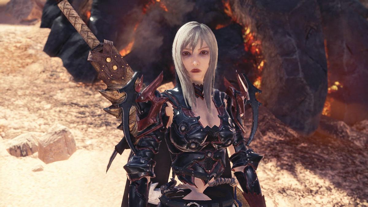 モンスターハンターワールドのMOD「FFXV Aranea character AND weapon mod for female」を紹介するイメージ画像-4