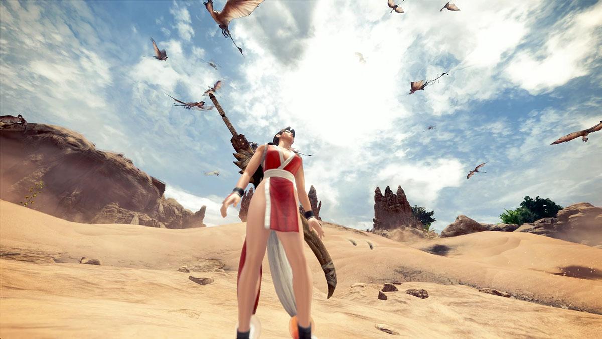 モンスターハンターワールドのMOD「Mai Shiranui」を紹介するイメージ画像-2