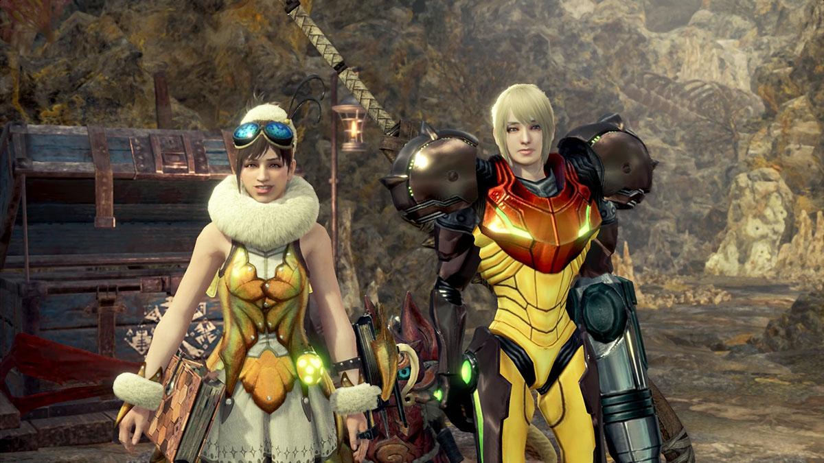 モンスターハンターワールドのMOD「Metroid Prime Samus Suits and Metroid Palico」を紹介するイメージ画像-2