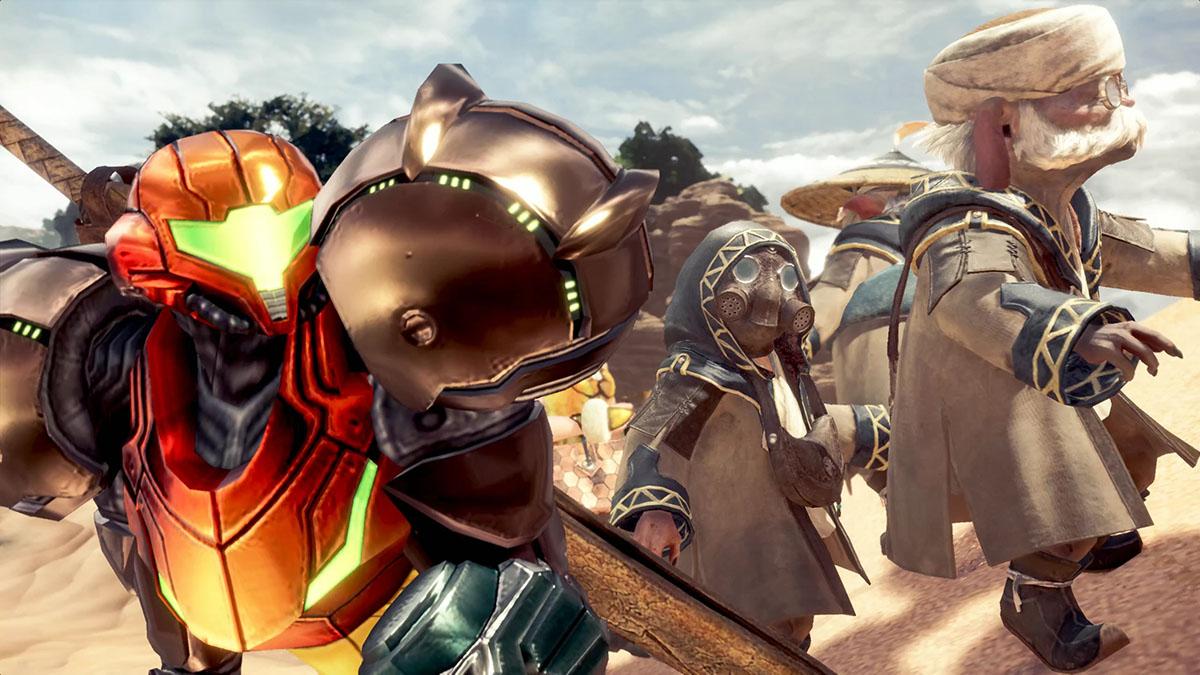 モンスターハンターワールドのMOD「Metroid Prime Samus Suits and Metroid Palico」を紹介するイメージ画像-3