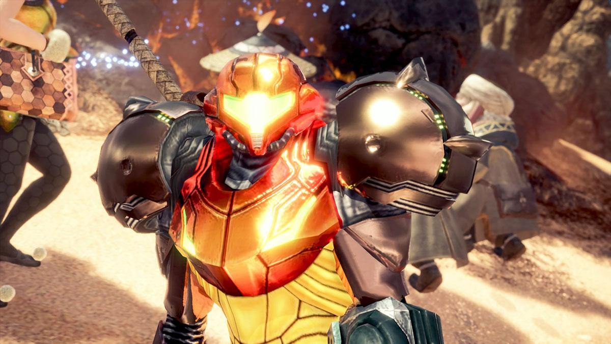 モンスターハンターワールドのMOD「Metroid Prime Samus Suits and Metroid Palico」を紹介するイメージ画像-4