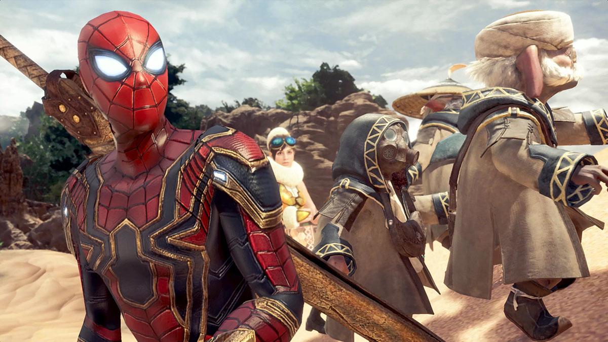 モンスターハンターワールドのMOD「Iron Spiderman」を紹介するイメージ画像-3