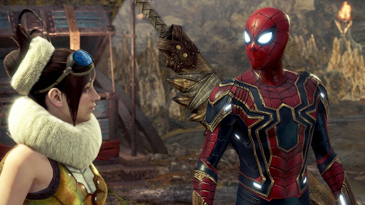 モンスターハンターワールドのMOD「Iron Spiderman」を紹介するイメージ画像-1