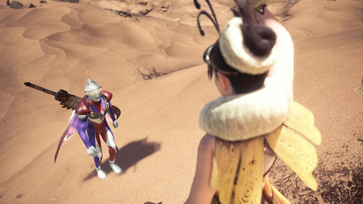 モンスターハンターワールドのMOD「Ultraman Tiga」を紹介するイメージ画像-1