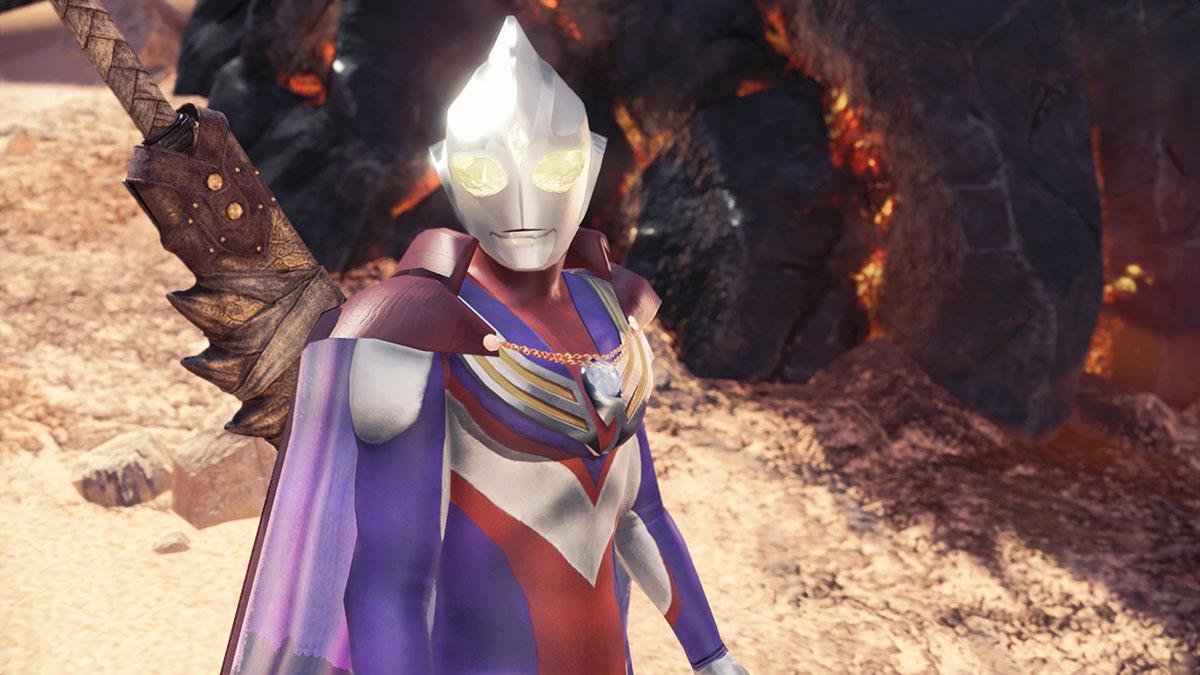 モンスターハンターワールドのMOD「Ultraman Tiga」を紹介するイメージ画像-2