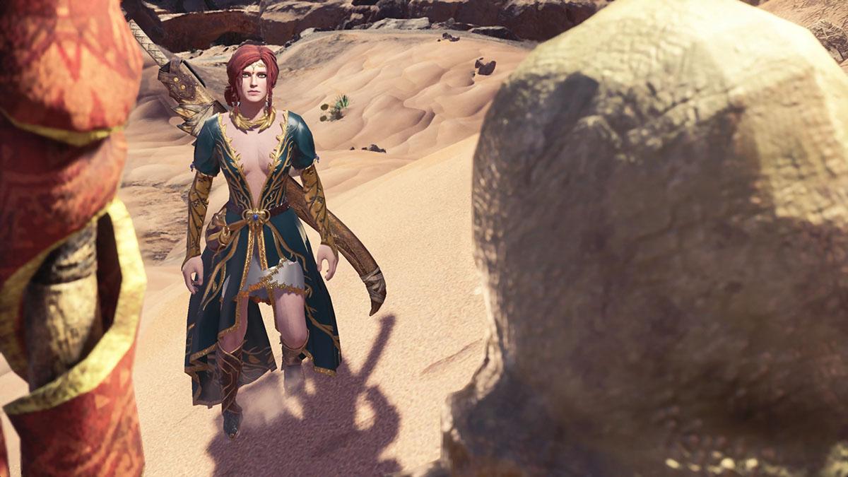 モンスターハンターワールドのMOD「The Witcher-Triss」を紹介するイメージ画像-1