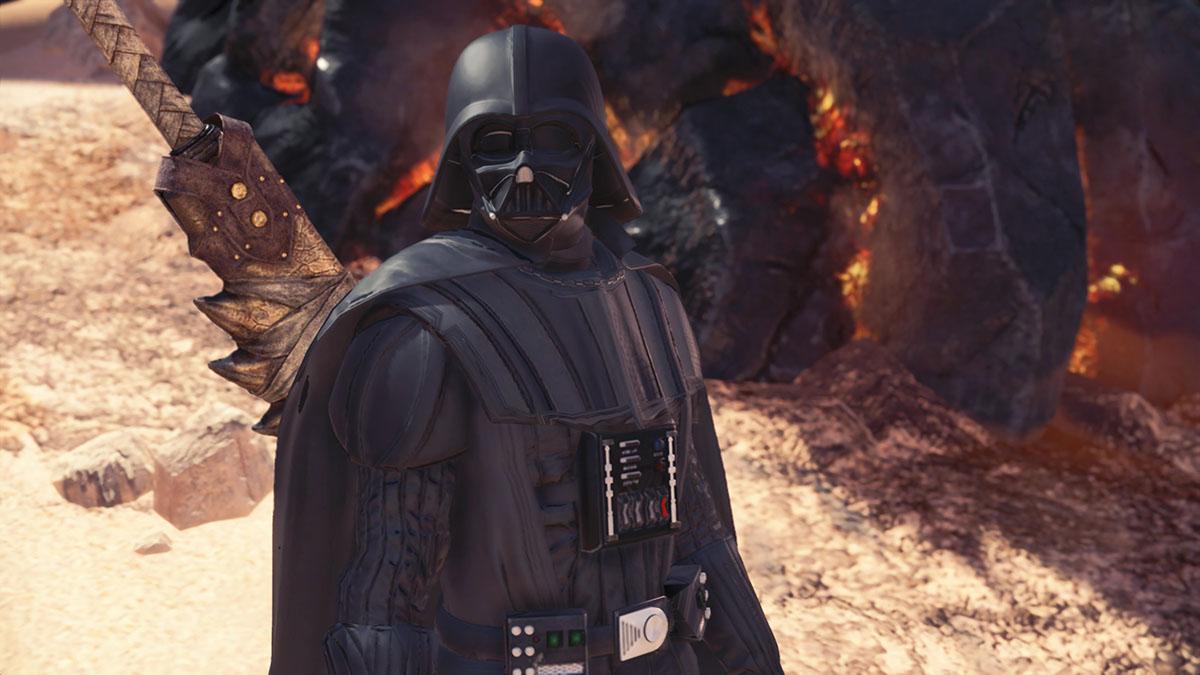 モンスターハンターワールドのMOD「Star Wars Darth Vader and Darth Maul」を紹介するイメージ画像-2