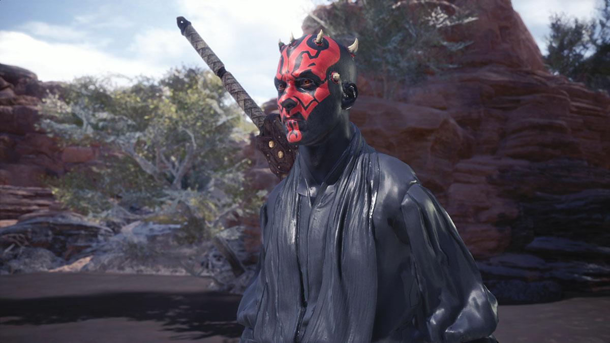 モンスターハンターワールドのMOD「Star Wars Darth Vader and Darth Maul」を紹介するイメージ画像-3