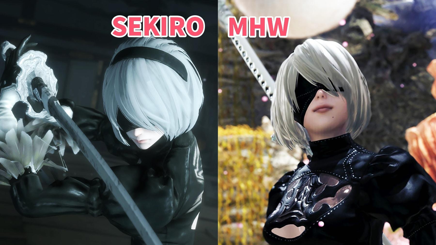 動画「『動画』SEKIROとMHWの2Bを色んな角度で比較する」のアイキャッチ画像